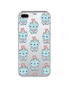 Coque iPhone 7 Plus et 8 Plus Hamster Love Amour Transparente - Claudia Ramos