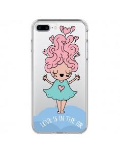 Coque Love Is In The Air Fillette Transparente pour iPhone 7 Plus - Claudia Ramos