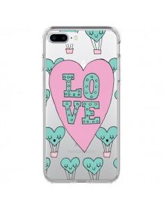 Coque Love Nuage Montgolfier Transparente pour iPhone 7 Plus - Claudia Ramos