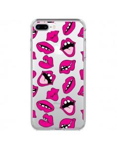 Coque Lèvres Lips Bouche Kiss Transparente pour iPhone 7 Plus et 8 Plus - Claudia Ramos