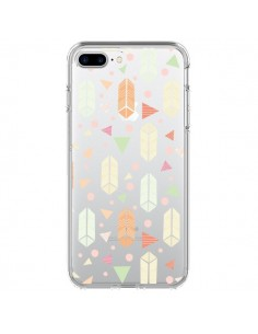 Coque iPhone 7 Plus et 8 Plus Arrow Fleche Azteque Transparente - Claudia Ramos