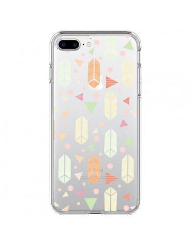 Coque Arrow Fleche Azteque Transparente pour iPhone 7 Plus et 8 Plus - Claudia Ramos