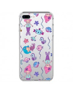 Coque Mermaid Petite Sirene Ocean Transparente pour iPhone 7 Plus - Claudia Ramos