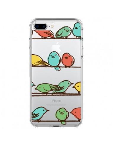 Coque iPhone 7 Plus et 8 Plus Oiseaux Birds Transparente - Eric Fan