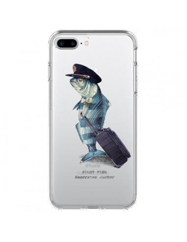 Coque Pilot Fish Poisson Pilote Transparente pour iPhone 7 Plus et 8 Plus - Eric Fan
