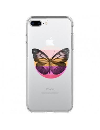 Coque iPhone 7 Plus et 8 Plus Papillon Butterfly Transparente - Eric Fan