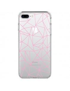 Coque Lignes Triangle Rose Transparente pour iPhone 7 Plus - Project M