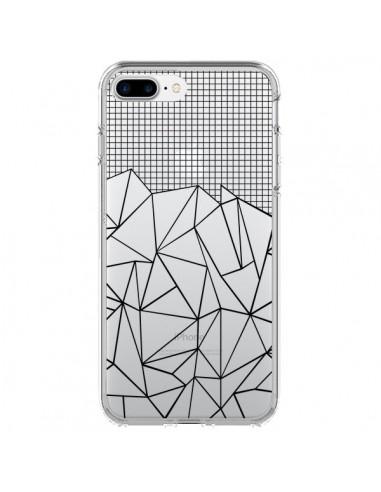 Coque Lignes Grille Grid Abstract Noir Transparente pour iPhone 7 Plus et 8 Plus - Project M