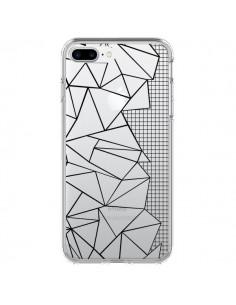 Coque Lignes Grilles Side Grid Abstract Noir Transparente pour iPhone 7 Plus - Project M