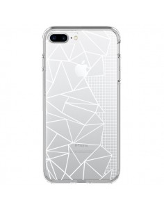 Coque Lignes Grilles Side Grid Abstract Blanc Transparente pour iPhone 7 Plus et 8 Plus - Project M