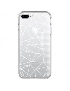 Coque Lignes Grilles Side Grid Abstract Blanc Transparente pour iPhone 7 Plus - Project M