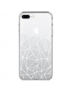 Coque Lignes Grilles Grid Abstract Blanc Transparente pour iPhone 7 Plus - Project M