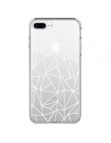 Coque Lignes Grilles Grid Abstract Blanc Transparente pour iPhone 7 Plus et 8 Plus - Project M