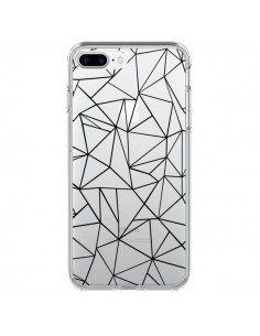 Coque Lignes Triangles Grid Abstract Noir Transparente pour iPhone 7 Plus et 8 Plus - Project M