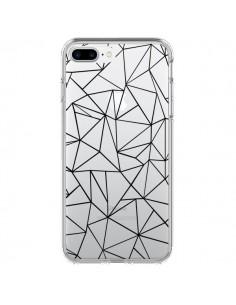 Coque Lignes Triangles Grid Abstract Noir Transparente pour iPhone 7 Plus - Project M