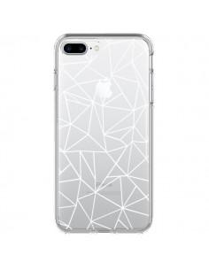 Coque Lignes Triangles Grid Abstract Blanc Transparente pour iPhone 7 Plus - Project M