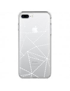 Coque Lignes Points Abstract Blanc Transparente pour iPhone 7 Plus - Project M