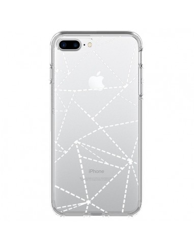 Coque Lignes Points Abstract Blanc Transparente pour iPhone 7 Plus et 8 Plus - Project M