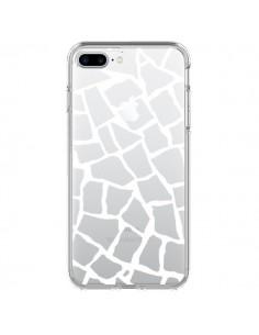 Coque Girafe Mosaïque Blanc Transparente pour iPhone 7 Plus - Project M