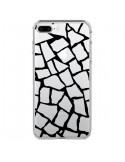 Coque Girafe Mosaïque Noir Transparente pour iPhone 7 Plus et 8 Plus - Project M