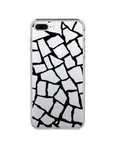 Coque Girafe Mosaïque Noir Transparente pour iPhone 7 Plus - Project M