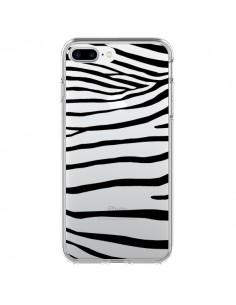 Coque Zebre Zebra Noir Transparente pour iPhone 7 Plus - Project M