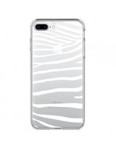 Coque iPhone 7 Plus et 8 Plus Zebre Zebra Blanc Transparente - Project M