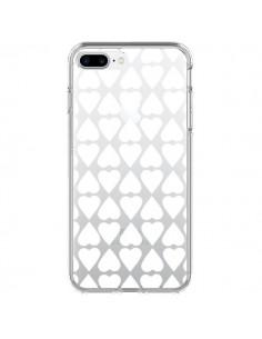 Coque Coeurs Heart Blanc Transparente pour iPhone 7 Plus - Project M