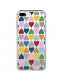 Coque Coeurs Heart Couleur Transparente pour iPhone 7 Plus et 8 Plus - Project M