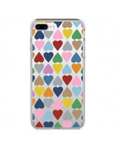 Coque Coeurs Heart Couleur Transparente pour iPhone 7 Plus - Project M
