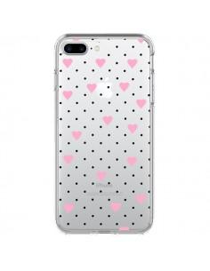 Coque Point Coeur Rose Pin Point Heart Transparente pour iPhone 7 Plus et 8 Plus - Project M