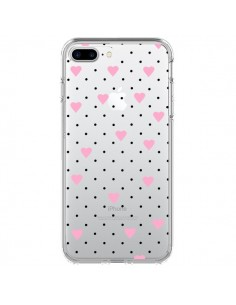 Coque Point Coeur Rose Pin Point Heart Transparente pour iPhone 7 Plus - Project M