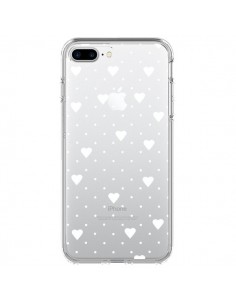 Coque Point Coeur Blanc Pin Point Heart Transparente pour iPhone 7 Plus - Project M