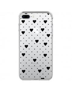 Coque Point Coeur Noir Pin Point Heart Transparente pour iPhone 7 Plus - Project M