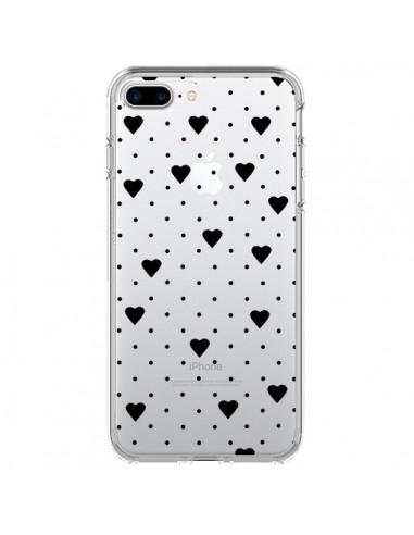 Coque Point Coeur Noir Pin Point Heart Transparente pour iPhone 7 Plus et 8 Plus - Project M