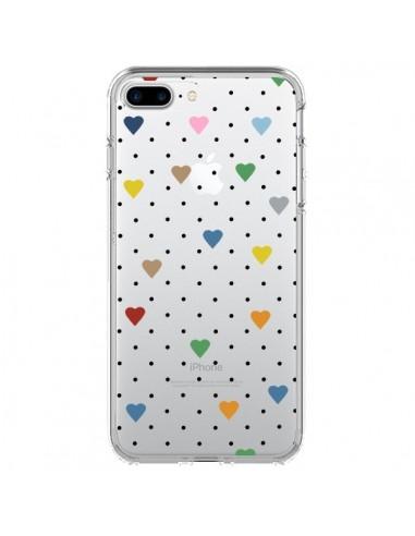Coque iPhone 7 Plus et 8 Plus Point Coeur Coloré Pin Point Heart Transparente - Project M