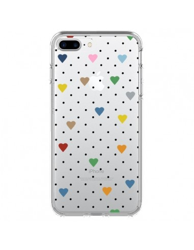 Coque Point Coeur Coloré Pin Point Heart Transparente pour iPhone 7 Plus et 8 Plus - Project M