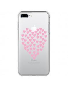 Coque Coeurs Heart Love Rose Pink Transparente pour iPhone 7 Plus - Project M