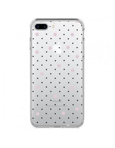 Coque iPhone 7 Plus et 8 Plus Point Rose Pin Point Transparente - Project M