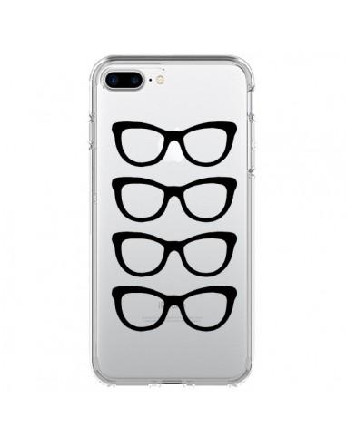 Coque iPhone 7 Plus et 8 Plus Sunglasses Lunettes Soleil Noir Transparente - Project M