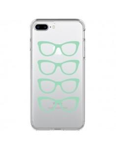 Coque Sunglasses Lunettes Soleil Mint Bleu Vert Transparente pour iPhone 7 Plus et 8 Plus - Project M