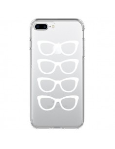 Coque Sunglasses Lunettes Soleil Blanc Transparente pour iPhone 7 Plus et 8 Plus - Project M