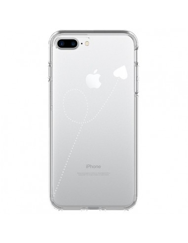 Coque iPhone 7 Plus et 8 Plus Travel to your Heart Blanc Voyage Coeur Transparente - Project M