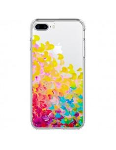 Coque Creation in Color Jaune Yellow Transparente pour iPhone 7 Plus - Ebi Emporium