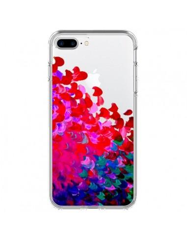 Coque Creation in Color Pink Rose Transparente pour iPhone 7 Plus et 8 Plus - Ebi Emporium