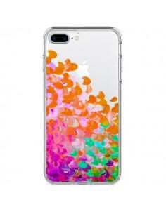 Coque Creation in Color Orange Transparente pour iPhone 7 Plus - Ebi Emporium