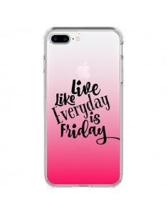 Coque Everyday Friday Vendredi Live Vis Transparente pour iPhone 7 Plus - Ebi Emporium