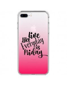 Coque Everyday Friday Vendredi Live Vis Transparente pour iPhone 7 Plus et 8 Plus - Ebi Emporium