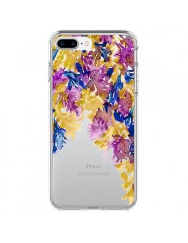 Coque iPhone 7 Plus et 8 Plus Cascade Florale Transparente - Ebi Emporium