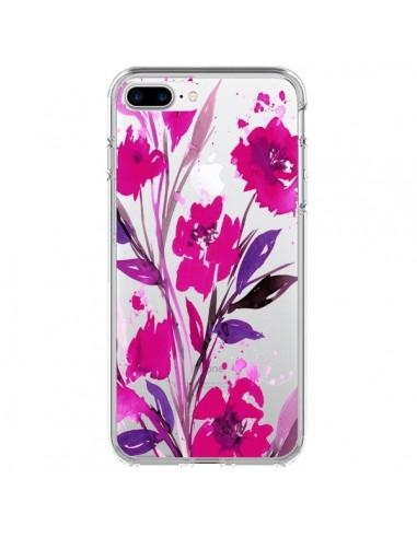 Coque iPhone 7 Plus et 8 Plus Roses Fleur Flower Transparente - Ebi Emporium